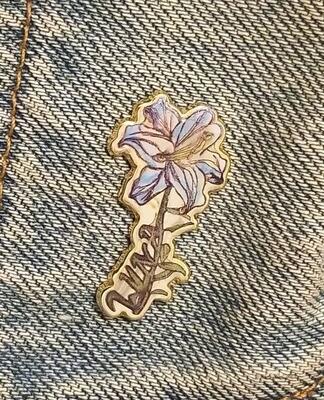 HARD ENAMEL FLOWER PIN