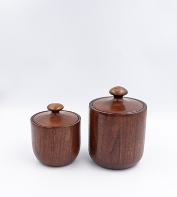 Unique Turned Lidded Wooden Bowls Containers  Boxes Walnut