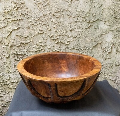 Unique Turned Carved Large Mango Wood Bowl  Handmade Natural Home Décor Fruit  Candy  Cookie wooden Bowl