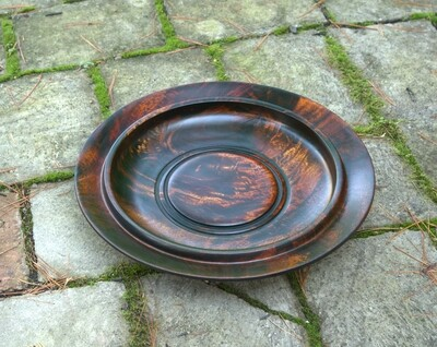Unique Handmade Wood Turned Colored  Wooden Plate Bowl  Mango Wood Fruits Cookie Candy Nut bowl 1715