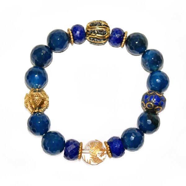 Agate Plus Sparkle Bracelet