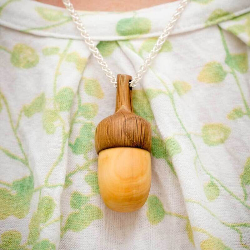 Acorn Pendant with Sterling Silver Chain