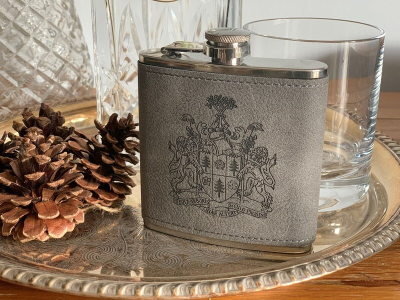 Hip Flask with RFS Coat of Arms