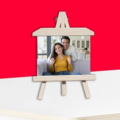 Wooden Easel Stand+Photo on Aluminum Panel-New Trend In The City