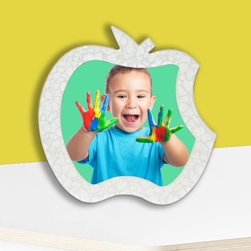 Apple  Globulite MDF With Easel Stand + Photo on Aluminium Panel