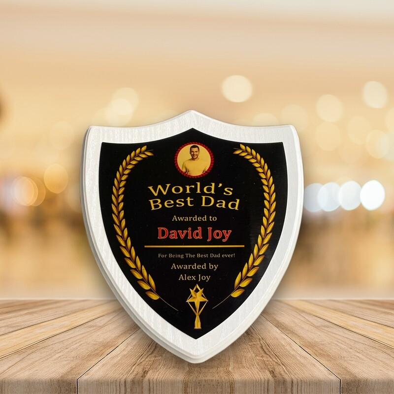 Personalised Plaque Award For Dad