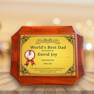 Custom Plaque Award For Dad
