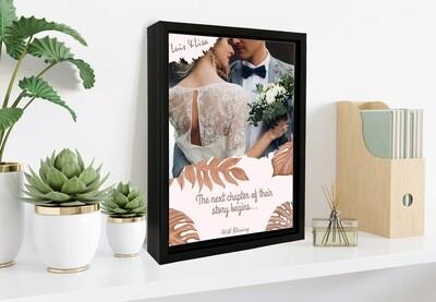 Custom Wedding Photo Frame|Personalised Couple Photo Printed On Aluminum |Anniversary Gift For Him| Gift For Couple| Custom Box Frame
