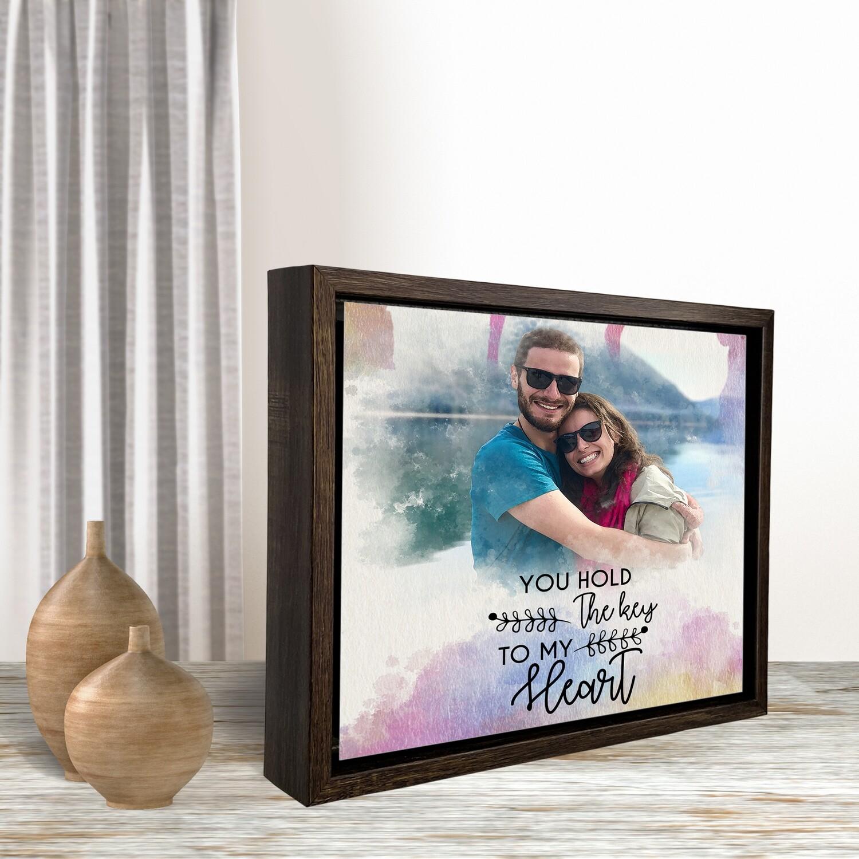 Valentine's Gift  Personalised Valentine's Portrait   Valentine's Day Gift For Him/Her  Gift For Couple  Custom Photo Printed On Aluminium  Custom Box Frame