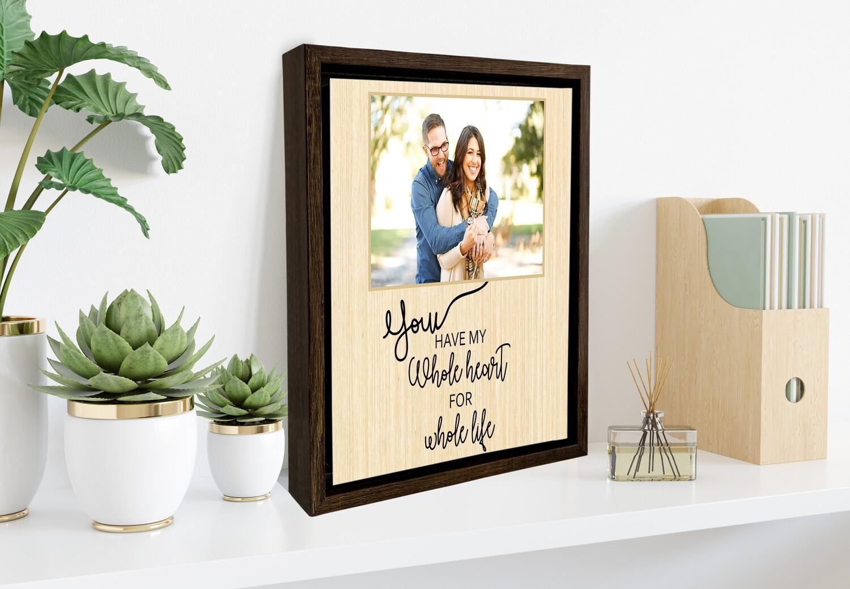 Valentine's Gift |Personalised Valentine's Portrait | Valentine's Day Gift For Him/Her| Gift For Couple| Custom Photo Printed On Aluminium| Custom Box Frame