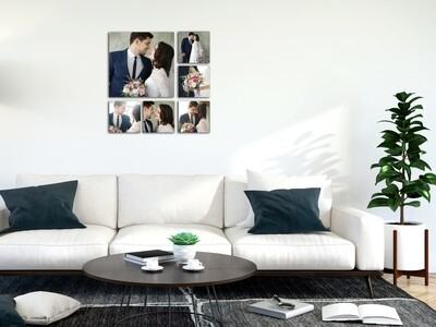 Frameless Aluminium Collage Wall Panel- Ready To Hang-Different Options To Choose From