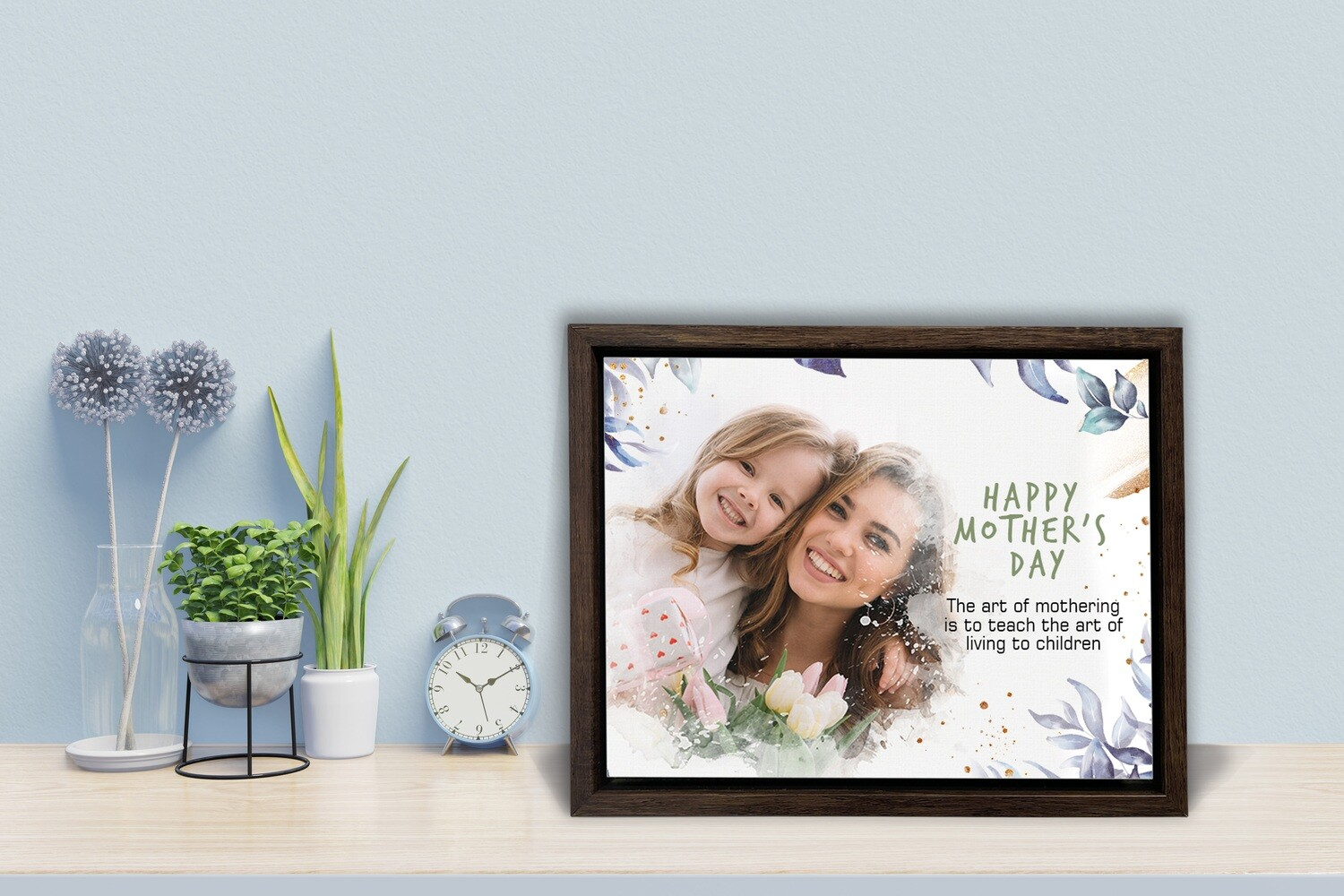 MOTHERS DAY Gift | I LOVE YOU MOM| Personalised  Box Photo Frame | Custom Mothers Day Photo Printed On Aluminum