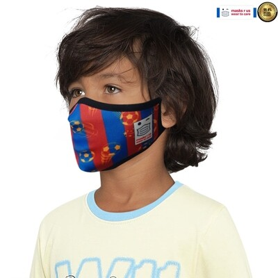 Comfortable, stylish, fashionable re-usable dust mask - Blaugrana