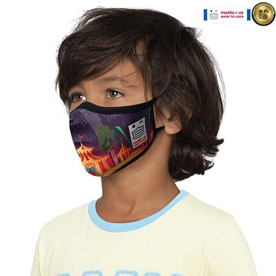 Comfortable, stylish, fashionable re-usable dust mask - Circus Time