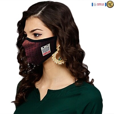Comfortable, stylish, fashionable re-usable dust mask - Croc time