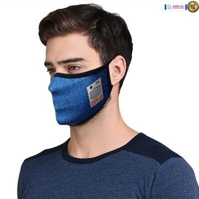 Comfortable, stylish, fashionable re-usable dust mask - Denim Days