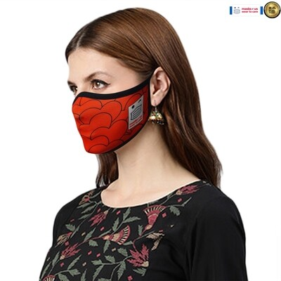 Comfortable, stylish, fashionable re-usable dust mask - Hearts Alive
