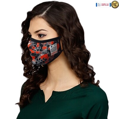 Comfortable, stylish, fashionable re-usable dust mask - Lady in Red