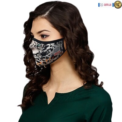 Comfortable, stylish, fashionable re-usable dust mask - Leopard