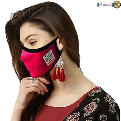 Comfortable, stylish, fashionable re-usable dust mask - Pretty in pink