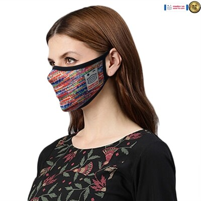 Comfortable, stylish, fashionable re-usable dust mask - Northern Lights