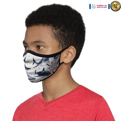 Comfortable, stylish, fashionable re-usable dust mask - Shark City