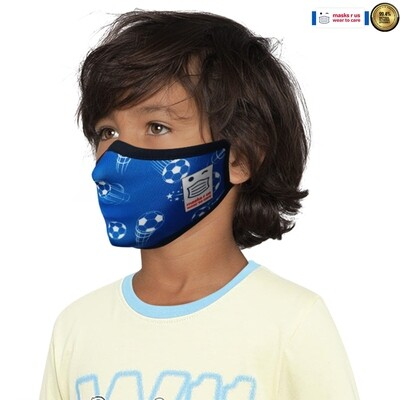 Comfortable, stylish, fashionable re-usable dust mask - The Blues