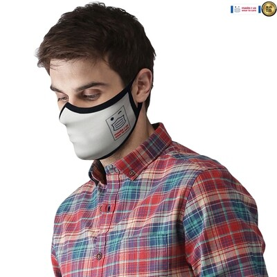 Comfortable, stylish, fashionable re-usable dust mask - White Light