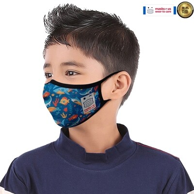 Comfortable, stylish, fashionable re-usable dust mask - Under the Sea