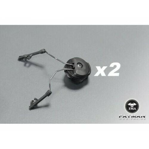 FMA PT Headset and Helmet Rail Adapter Set - Black/OD Green/Tan