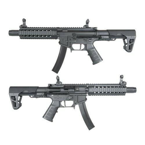 King Arms PDW 9mm SBR Long - Black/Black & Blue/Dark Earth/Gun Metal Grey