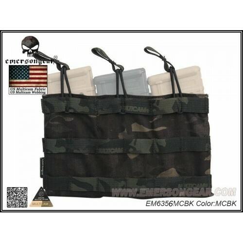 Emerson Gear 5.56 Triple mag pouch Multicam Black by Emerson Gear