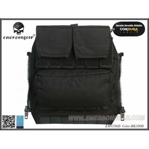 Emerson Gear AVS / JPC Zip on Back pack - Black by Emerson Gear
