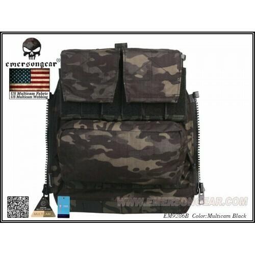 Emerson Gear AVS / JPC Zip on Back pack - Multicam Black by Emerson Gear