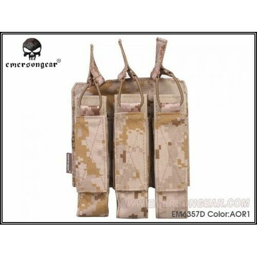 Emerson Gear Triple MP7 mag pouch - AOR1 by Emerson Gear