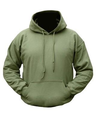 Plain Hoodie - Olive Green