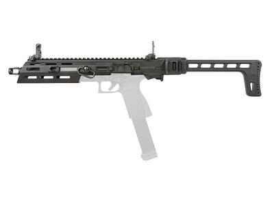 G&G SMC-9 9mm Conversion Carbine Kit with GTP9 Gas Blowback Pistol (Black - KIT ONLY)