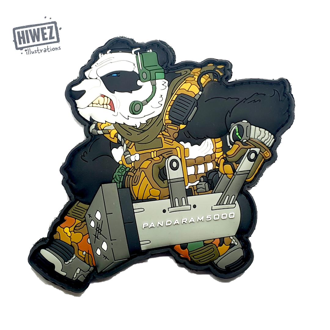 Hiwez Pixiu Panda Ram PVC Patch