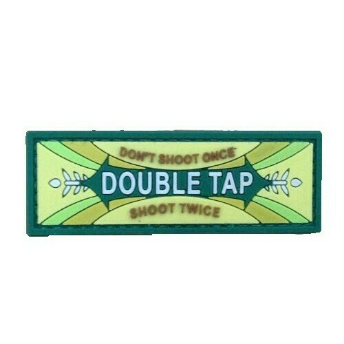 Double tap chewing gum logo morale patch (Green) by ACM