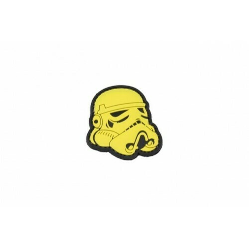 Star Wars Stormtrooper helmet velcro morale patch (Yellow) by WBD Airsoft