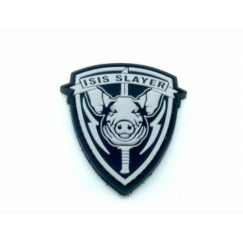 ISIS Pig Slayer pig morale patch (Black) by ACM