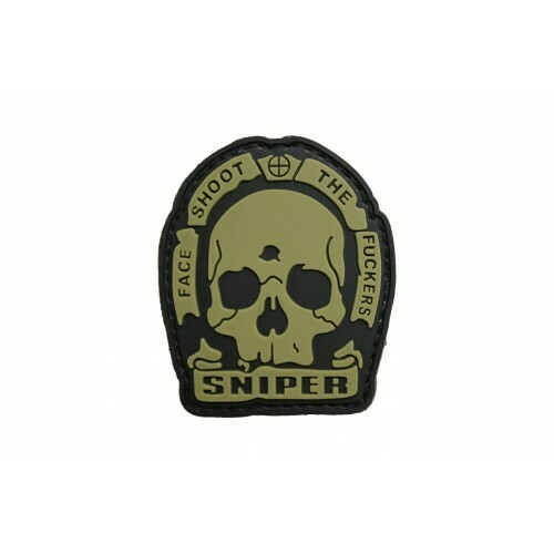 Sniper Face Shoot The F**kers (TAN) Morale Patch by ACM