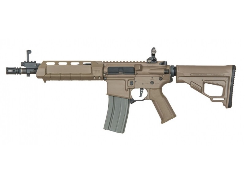 Ares Amoeba Octaarms Pro SR16 AEG with EFCS Unit (Full Metal - Tan - Short - AR-074 - Tan)