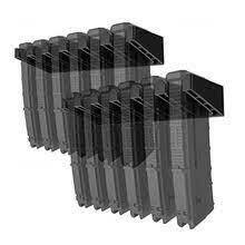 MAGORUI Solid ABS 6X Standard PMAG Wall Mount Magazine Rack, Family Magazine Storage Rack for Glock for Hunting