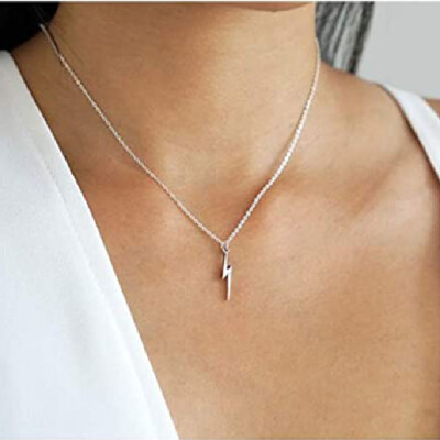 Friendship Lightning Bolt Pendant Chain Set.