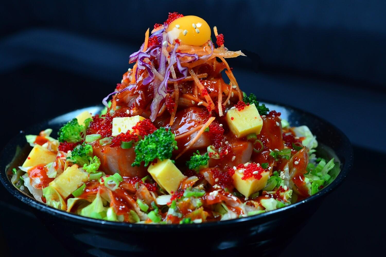 Korean Style Chirashi Don (회덮밥)