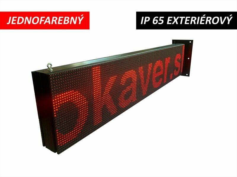LED displej jednofarebný P10 DIP 1600x320x110mm IP65