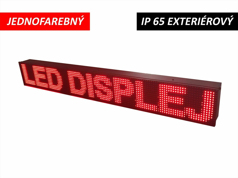LED displej jednofarebný P10 DIP 1280x160x110 mm