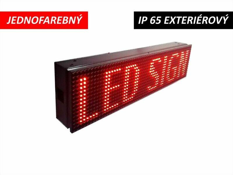 LED displej jednofarebný P10 DIP 960x160x110 mm