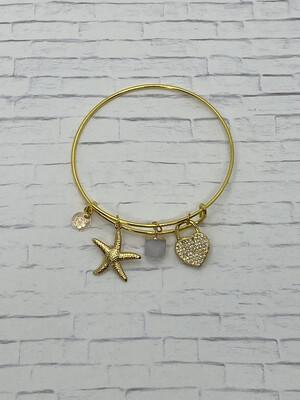 Gold Lock Heart Bracelet